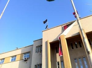 Drapeau al Quaida sur Tripoli
