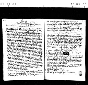 Notes  de l'Inquisition faisant état de l'invention de Gusmâo.