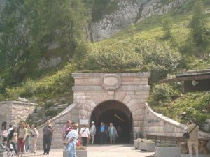 One of the several tunnels of the Obersalzberg.
