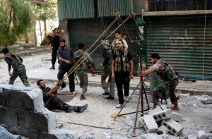 "The Free Syrian Army made a lot of ""amateur "" and primitive armement...for overcome the legal Syrian Army (government)"