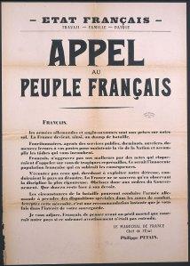 L'appel au peuple français.