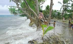 À Tuvalu,une partie de terrain est perdue constamment,mettant en péril l'avenir de ses habitants.