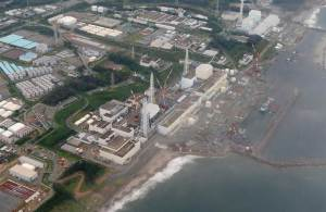 Une photo aérienne montre la centrale nucléaire de Fukushima, dans le nord du Japon. L'eau radioactive déversée lors d'une catastrophe provoquée par le tsunami en 2011 fait tranquillement son chemin vers la zone côtière américaine.Sur cette photo prise en altitude on peut deviner la chaleur et le bouillonnement de l'eau et la différence de couleur.