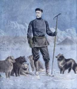 Le norvégien Nansen fut le premier explorateur moderne à réussir, en 1897, l'exploit scientifique et humain de s'approcher du pôle Nord jusqu'à atteindre la latitude de 86° 15'.