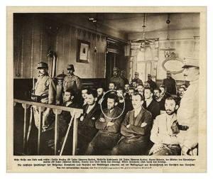 Procès de Salonique ...Gavrilo Princip est dans le cercle.