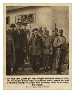 Gavrilo Princip sous escorte policière.