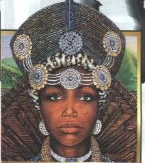 Nandi,reine du Zululand qui  sera la mère de  Shaka-Zulu ,le grand empereur noiir  et grand unificateur.