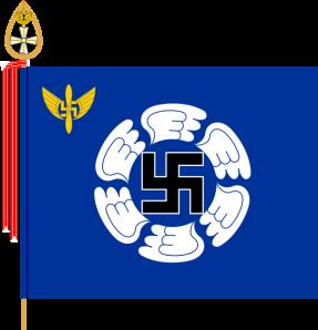 Drapeau actuel,de l'école de l'armée d'air finlandaise.
