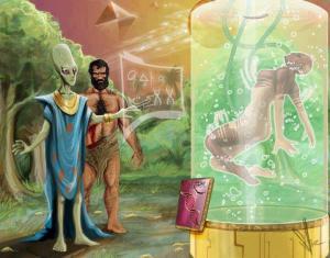 Les Humains de la Terre auraient reçu  un héritage génétique venu d'ailleurs.