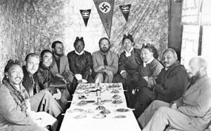 Un bon repas au Tibet.