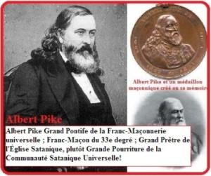 Albert Pike est un franc maçon satanique aux services des Illuminati.