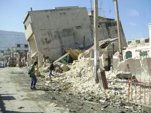 Les destructions occasionnées par le séisme de 2011.