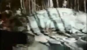Une photo provenant du film soviétique tourné sur  le lieu du crash en 1969.