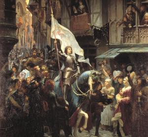 sainte-Jeanne d'Arc est la représentation parfaite de la vision spirituelle  qui change l'avenir d'un être puis de toute une société.La Vision crée le changement dans la Vie.