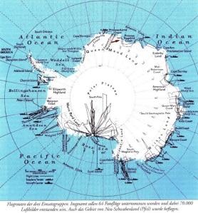 Une diversification de bases et de colonies.Les allemands du  Grand Reich étaient Maîtres de l'Antartique en 1945.
