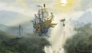 En 743 AD les Annales de la Quatre capitaines de navires avec leurs équipages, ont été clairement vu dans le ciel ».