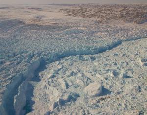 Le glacier Jakobshavn au Groenland.