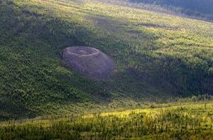 Le  fameux cratère sibérien.