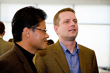 David Filo (à droite) et Jerry Yang,les deux fondateurs de Yahoo.Inutile de vous dire qu'ils sont milliardaires.