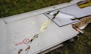 Le morceau d'aile de l'avion  qui prouve qu'un missile a été lancé dessus.