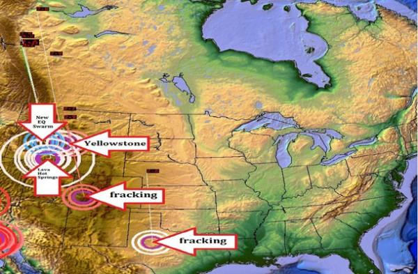 Les opérations de fracking pour rechercher  le gaz de schiste auraient même une incidence. Même  le capitalisme participe à l'éruption de Yellowstone.