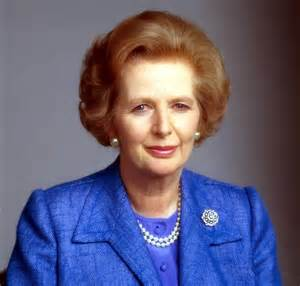Magareth Thatcher...in strange company.