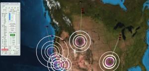 De la Côte Ouest Américaine  (faille de San Andreas) au Mississipi (Faille de San Madre)  et vers Yellowstone ...une grande anomalie magnétique s'est formée.
