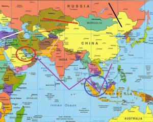 qatar sur la carte du monde