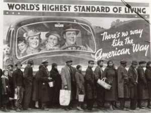 En 1929,le début de la Grande Dépression.