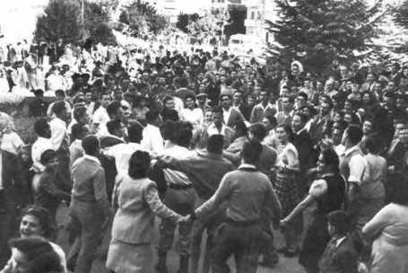 L'indépendance d'Israel en 1948.