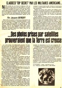 Le 26 avril 1977 ,Jacques Bergier signait un article qui allait faire beaucoup de vagues.