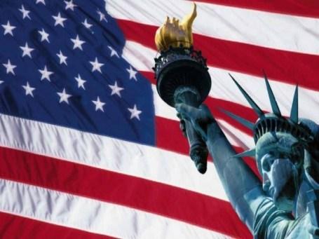 US Liberty and  flag