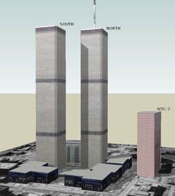Les  fameuses tours jumelles et l'édifice 7.
