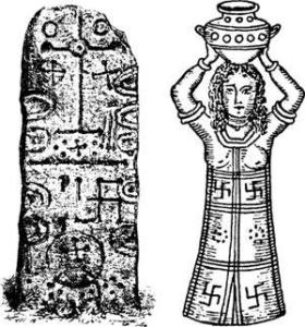 La Svastika a une origine Phénicienne avant d'être Indienne puis Nazis !! C'était un symbole positif qui représente le cycle de la vie avant d'être utilisé par les Nazis pour en faire un symbole négatif !