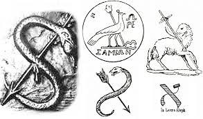 L'origine du sceau de Cagliostro est nettement d'origine égyptienne et orientale.