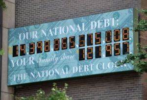 L'écran indicateur de la dette US le 26 juillet 2011