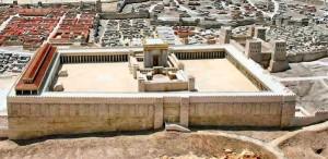 Maquette du temple de Jerusalem - Temple d'Hérode