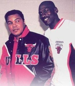 Muhammad Ali et Michael Jordan en 1992.