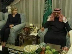 Hillry Clinton et le roi Abdhalla:la gérante des Illuminati ne pouvait passer à côté d'une visite officielle.