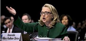 Hillary Clinton lors de sa comparution sur l'enquête de l'attaque contre l'ambassade américaine de Bengazi.