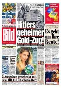 La une du journal allemand.