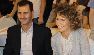 Le président Assad,heureux et détendu,ce matin ,en compagnie de sa charmante épouse.
