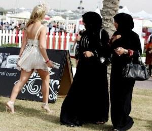 À Dubai,le choc des cultures entre  ces femmes est bien réel.