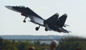Photo d'un jet russe déployé en Syrie,ce matin.