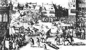 5 novembre 1605,la conspiration des poudres:ici exécution des conspirateurs un an plus tard!