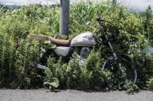 Une moto abandonnée depuis 2011.