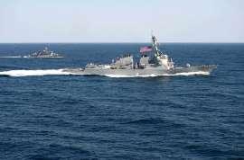 Le USS Lassen en mer de Chine,le 12 mars 2015.