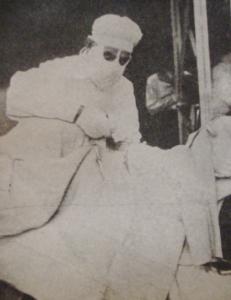 1916 - Opération chirurgicale sur le front en Allemagne.