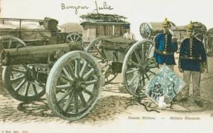 Carte postale allemande artillerie
