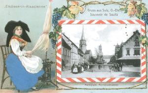 Carte postale allemande  d'Alsace occupée
